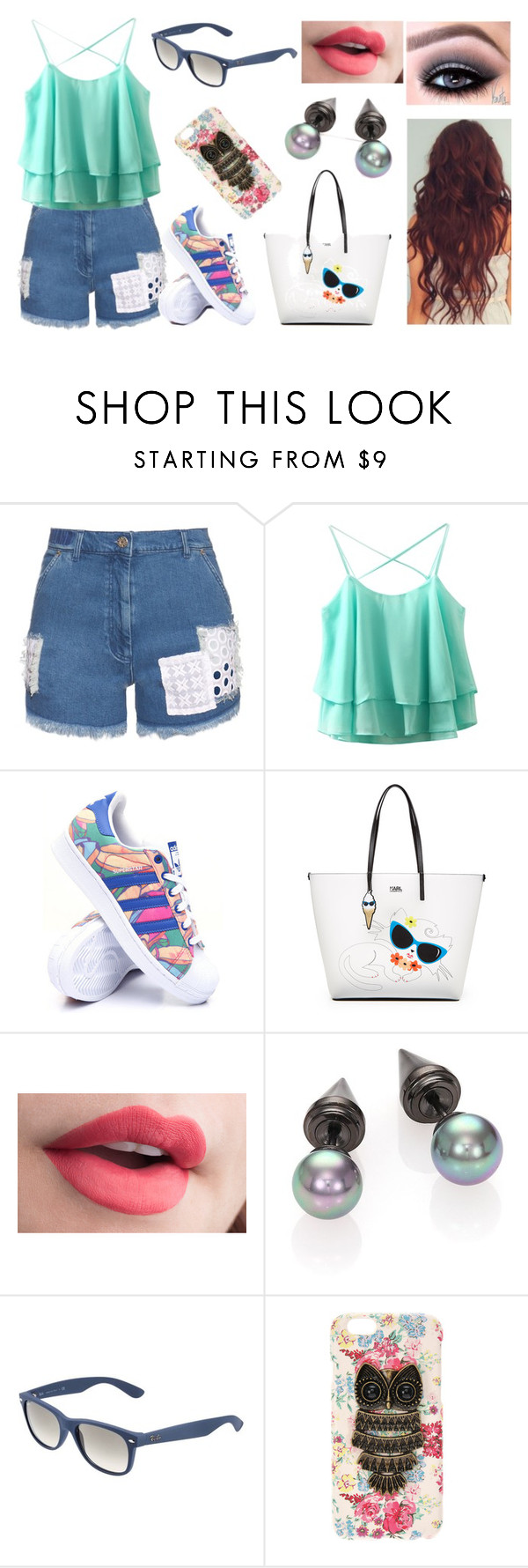 """""""In centro con Claudia"""" by nena69 ❤ liked on Polyvore featuring House of Holland, adidas, Karl Lagerfeld, Majorica and Ray-Ban"""