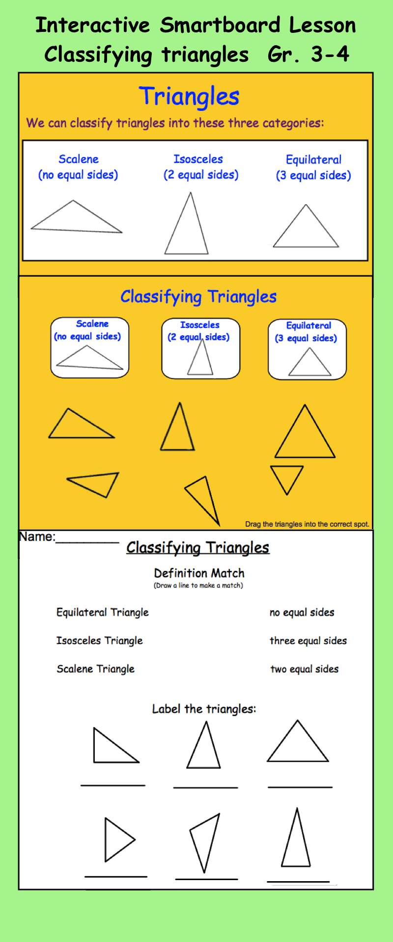 Smartboard classifying triangles interactive triangles math interactive smartboard lesson classifying triangles for pooptronica Images