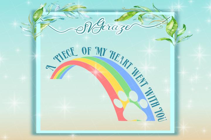 pet memorial quote rainbow bridge svg and dxf files pet