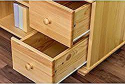 Tv base cabinet solid pine wood natural 002 – dimension …