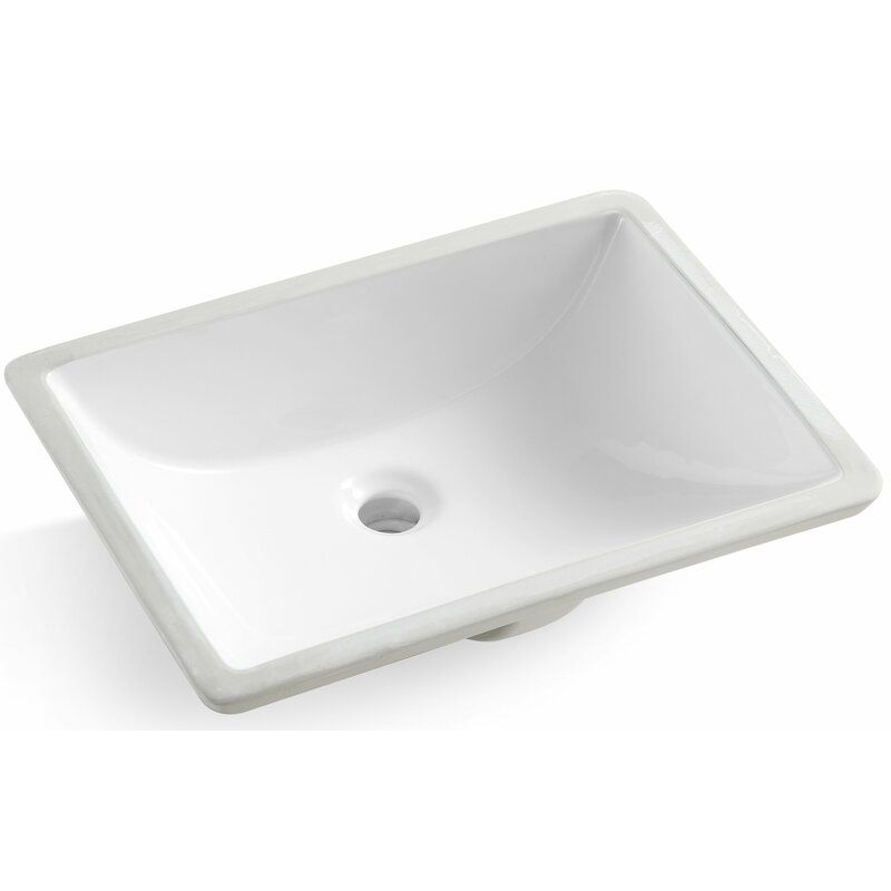 Rectangular Undermount Bathroom Sink With Overflow Undermount Bathroom Sink Bathroom Sink Sink