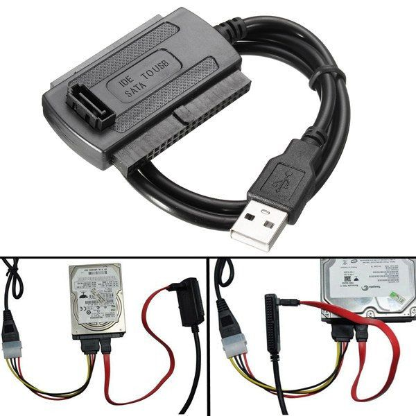 Usb 2 0 To Sata Ide Data Hard Drive Cable For Hdd Power Converter Adapter Electronic Accessories Supplies From Electronic Components Supplies On Banggood Co Usb Hard Drive Hdd