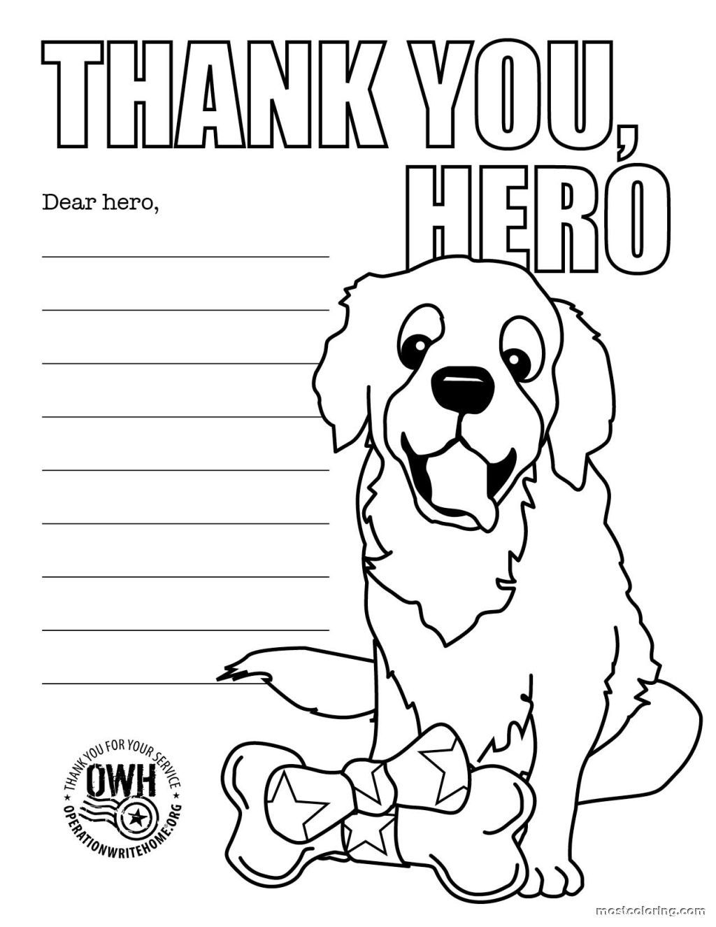 Thank You Firefighter Coloring Pages