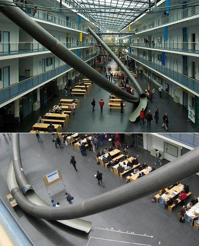Munich University (Germany) installs 'Gigantic' Slides.    #Freakin' Awesome! :)