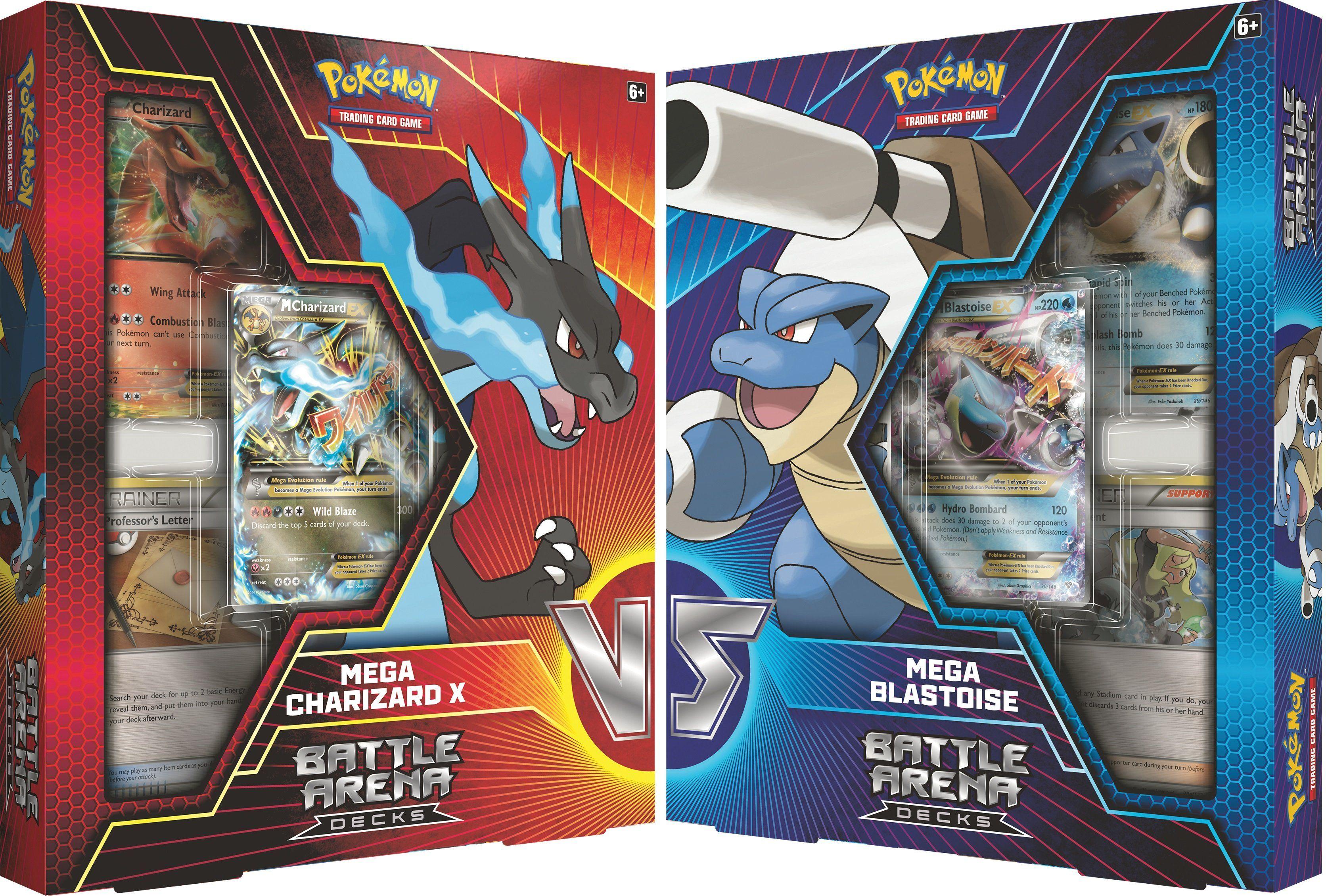 SET OF 2 Collector/'s Pin Sets Pokemon Cards Mega Blastoise /& Mega Venusaur