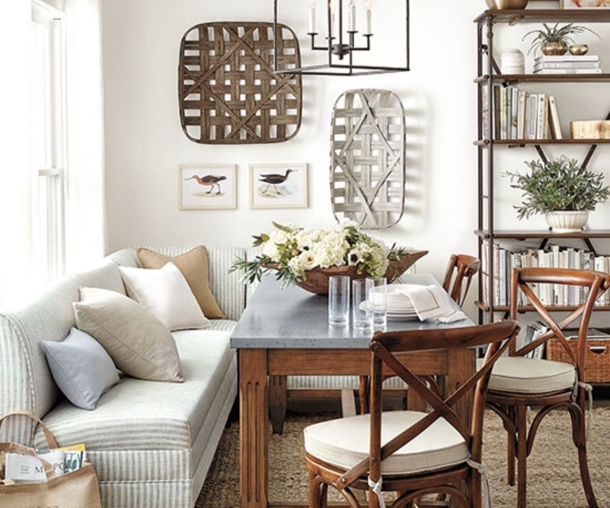 Gallery Wall With Tobacco Baskets And Prints Decor Wall Decor