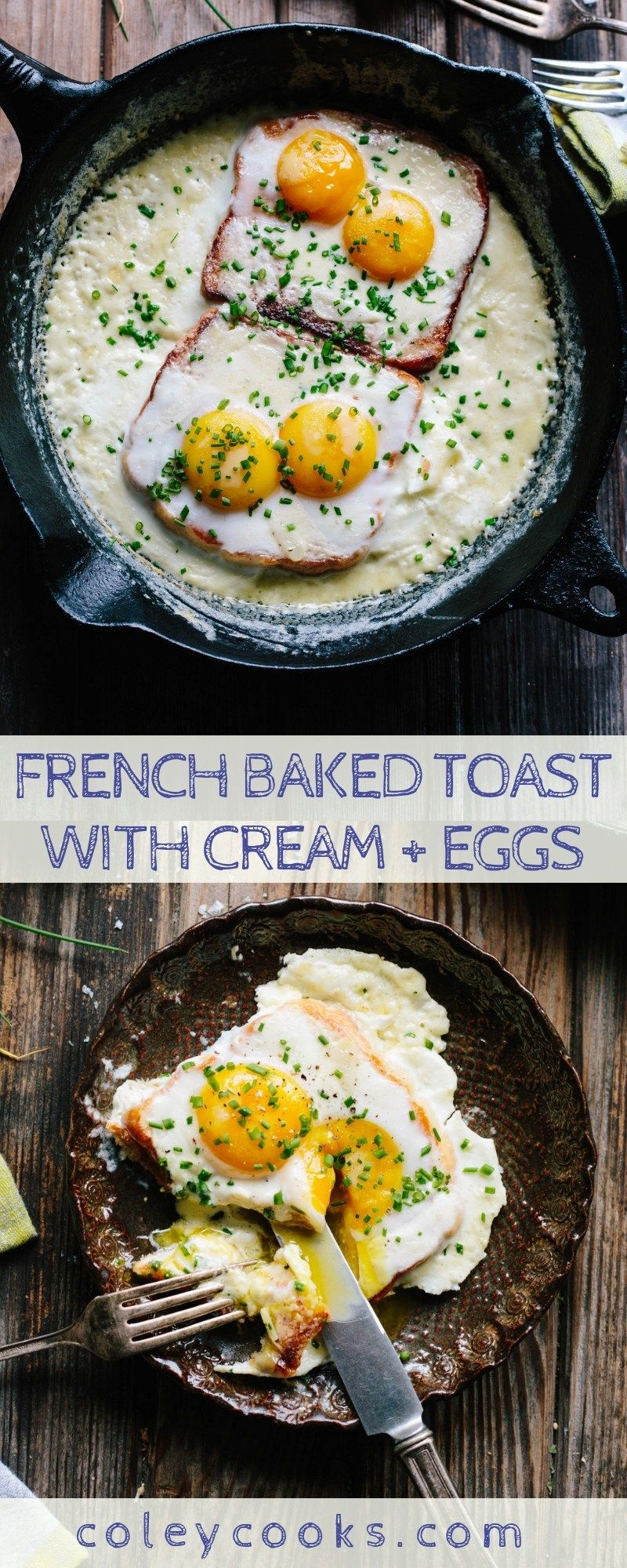 French Baked Toast With Cream And Eggs