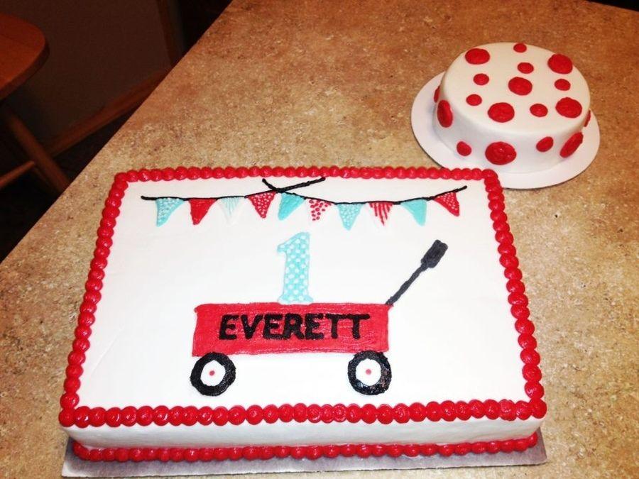 Red Wagon Birthday Cake Red Wagon Cake Childrens Birthday Cakes
