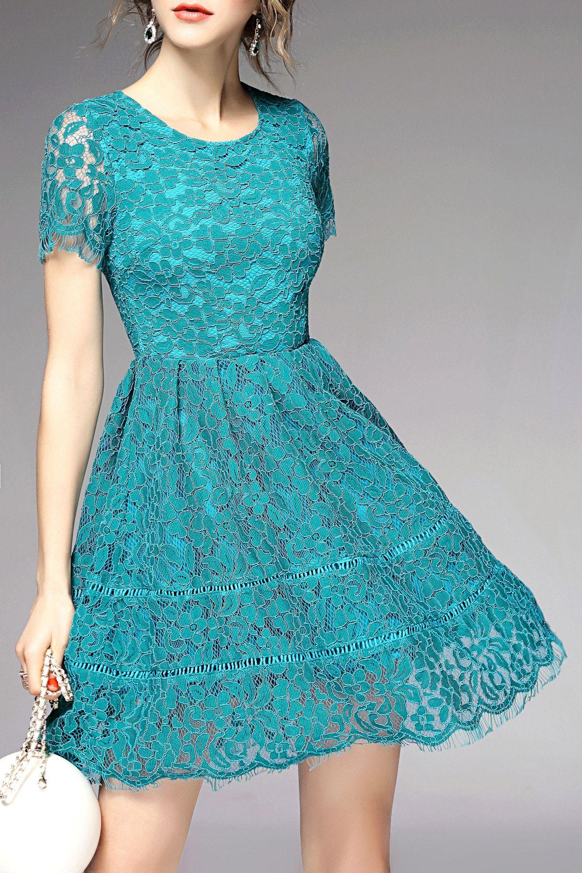 lake blue lace dress | Tattoos & Fashion | Pinterest | Lace dress ...