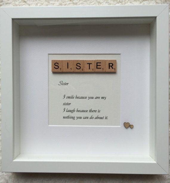 Sister scrabble box frame | christmas | Pinterest | Scrabble, Box ...