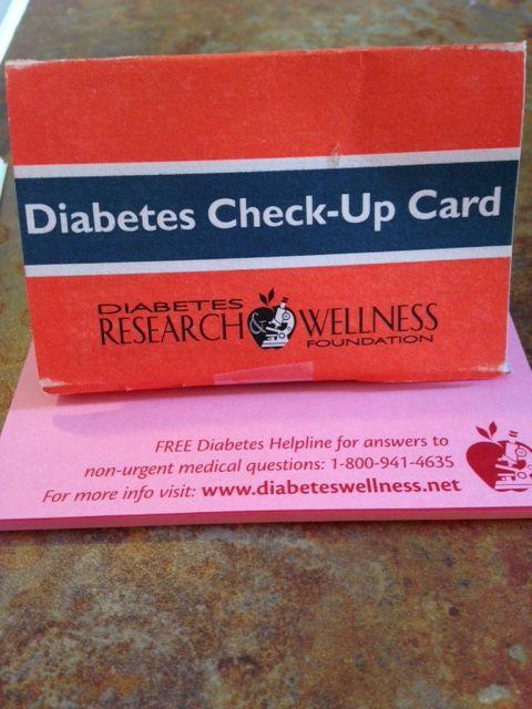 Diabetes Check up card   Diabetes Free medical This or ...