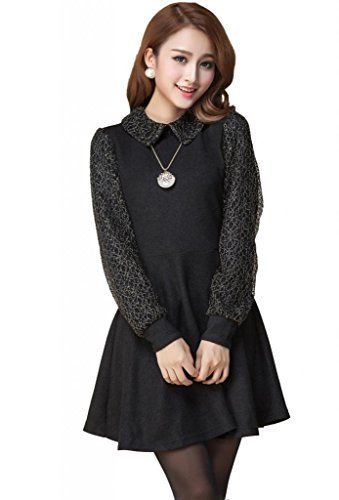 awesome   Beautifulmall Women's Winter Long Sleeves Slim Knit Cotton Pleated Mini Dress 74L #fashion #beauty #lifestyle #vintage #beverage #vintagedress #hair #nails