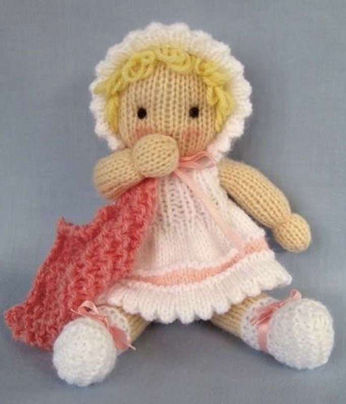 Little Daisy Knitted Baby Doll Patterns Toy And Dolls