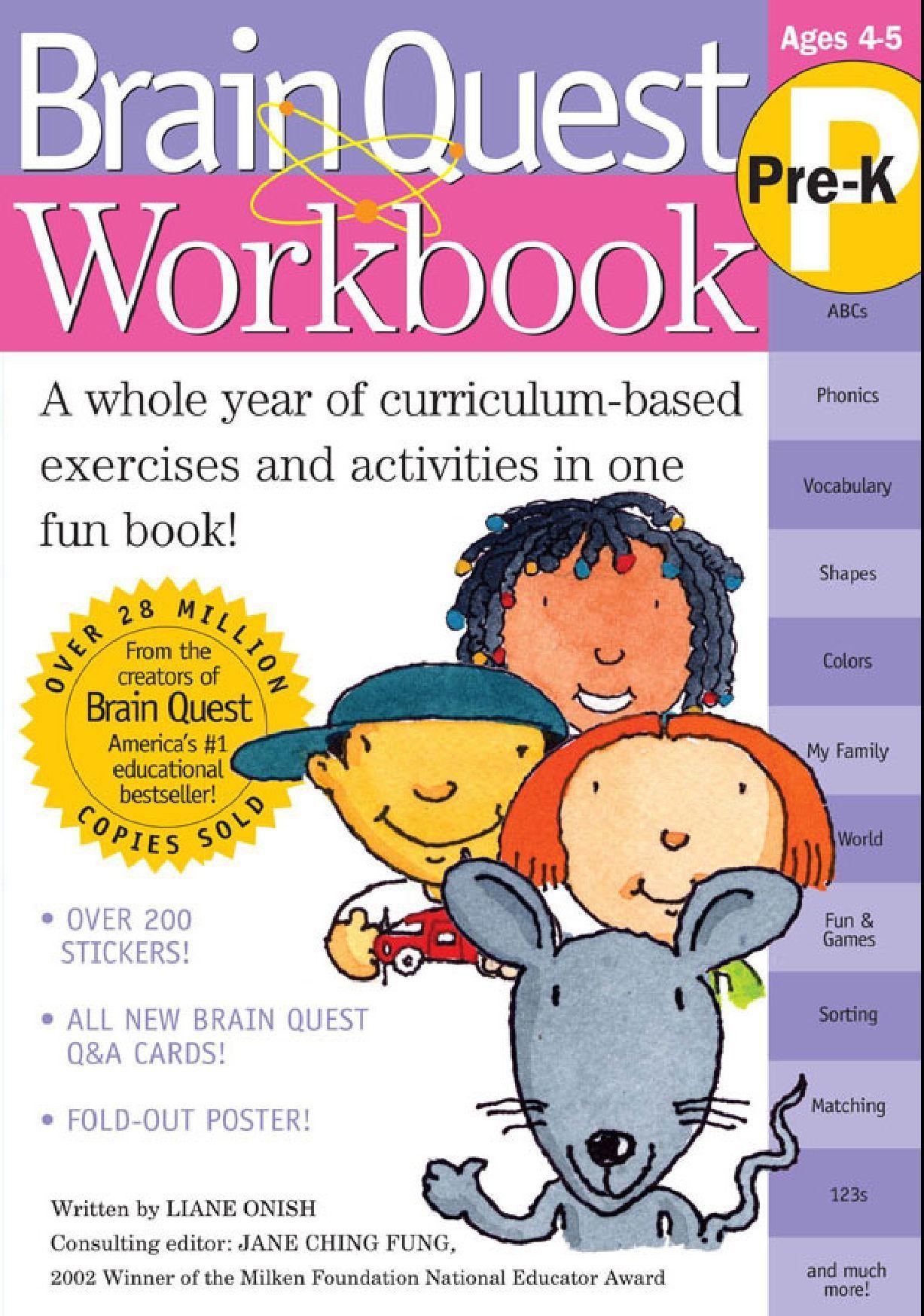 hight resolution of Brain Quest Workbook Pre-K   Workbook