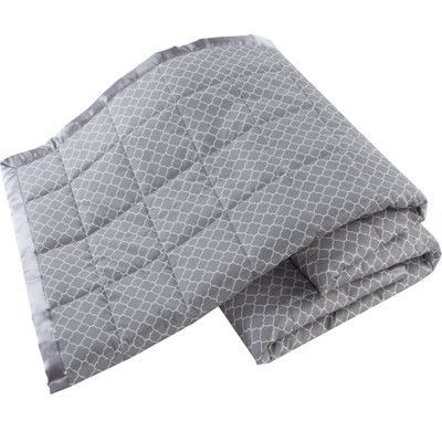 Elite Home Products Down Alternative Blanket Color: Gray, Size: Full/Queen