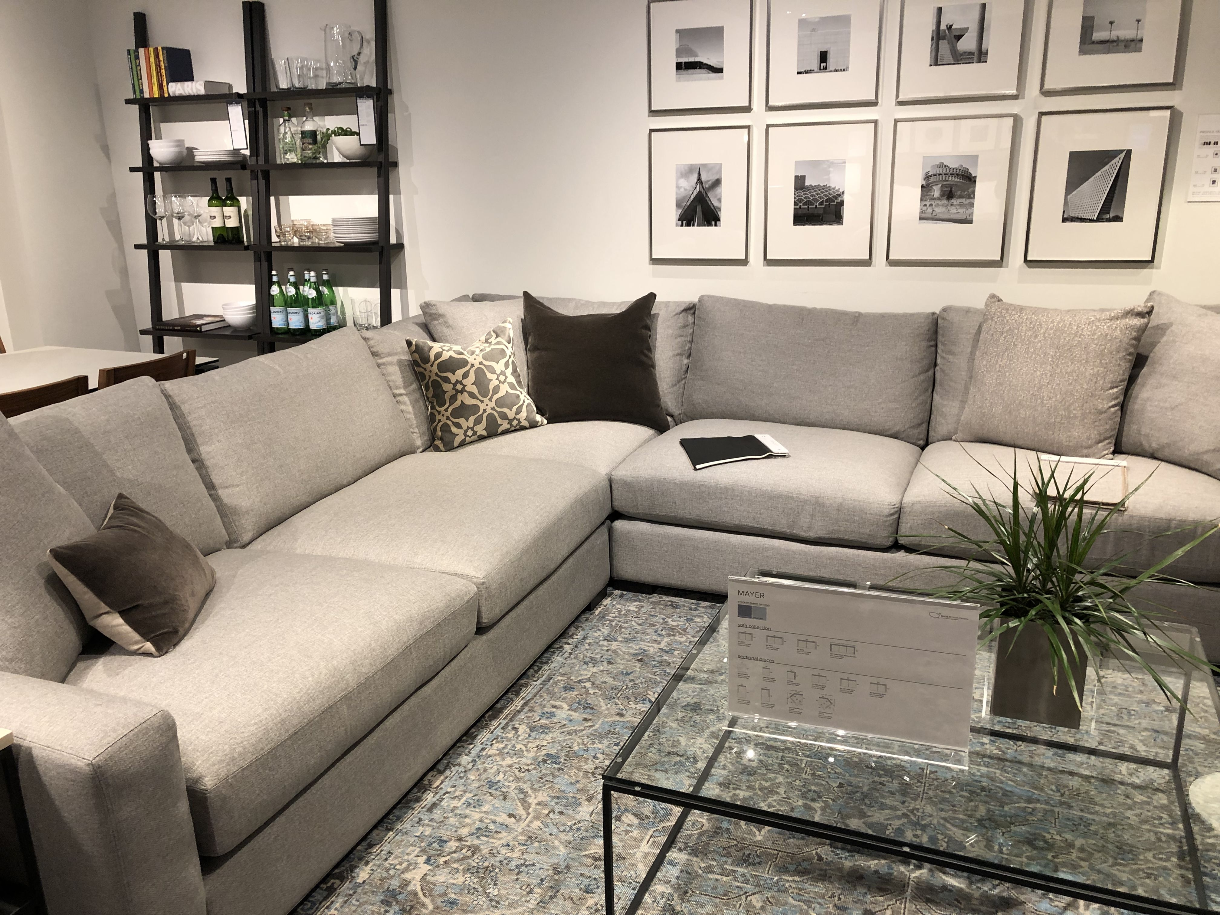 Love This Mayer Sectional Comes In Leather Super Comfy Room Board Furniture Sectional Home Room and board leather sofa