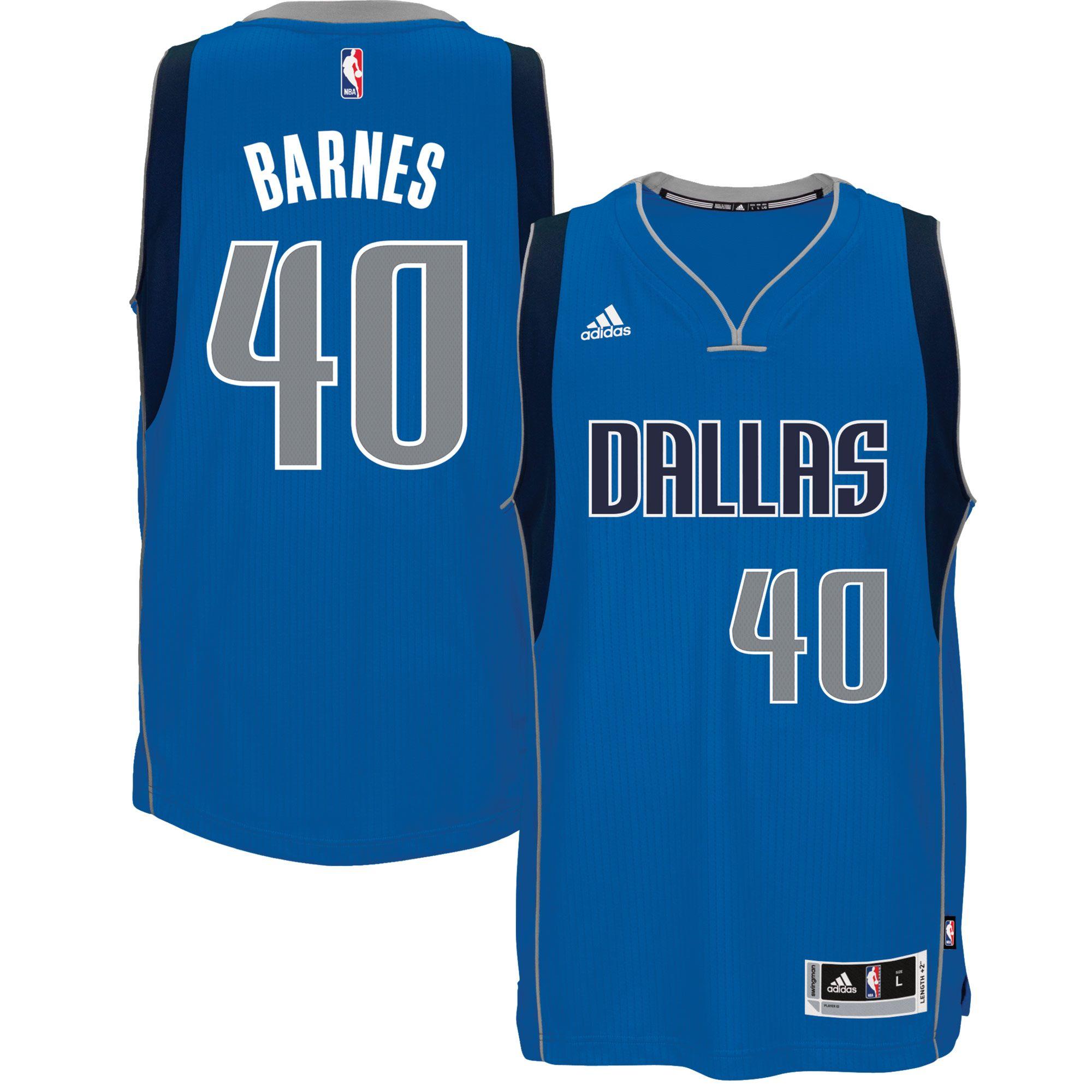 Harrison Barnes Dallas Mavericks adidas Road Swingman climacool Jersey -  Blue
