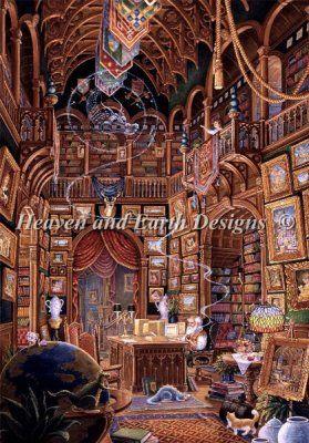 Computer Wizard 木イラスト 背景画 ファンタジーアート