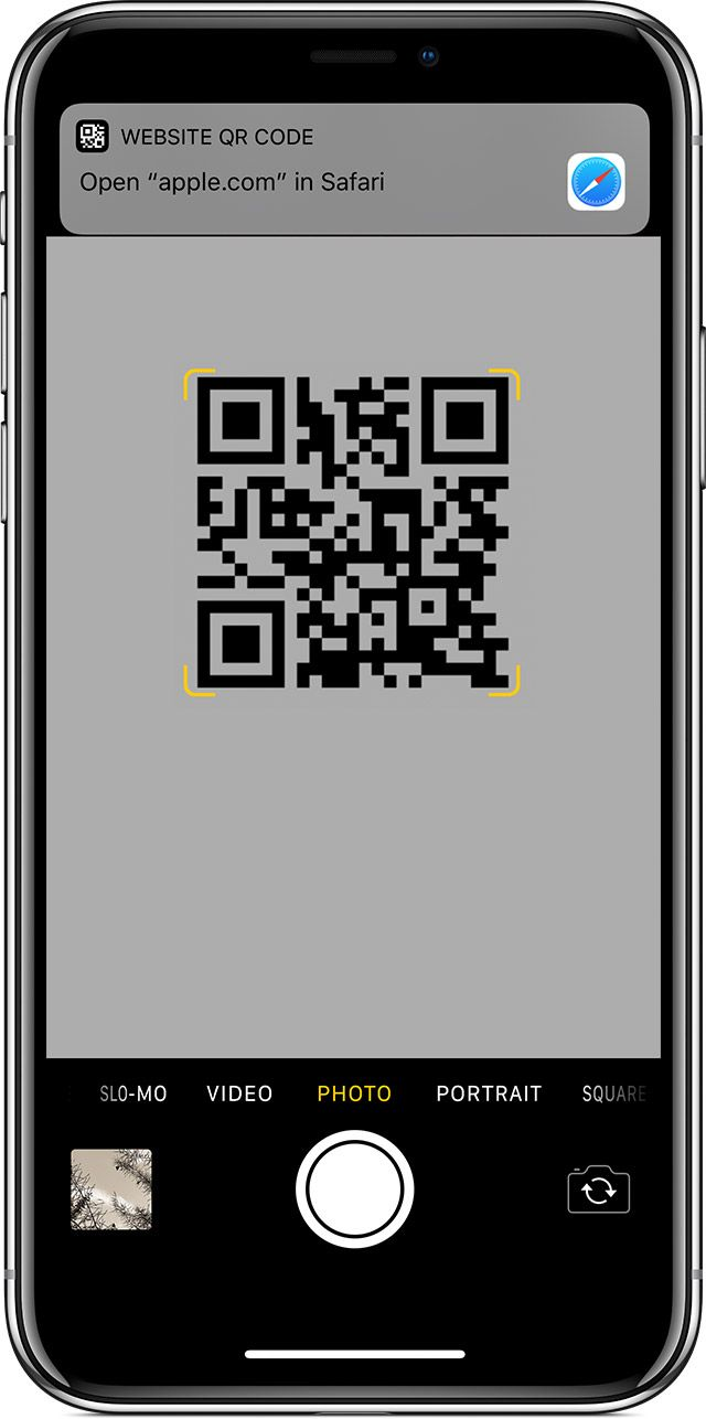 scanning a QR code on iPhone Coding, Iphone, Apple support