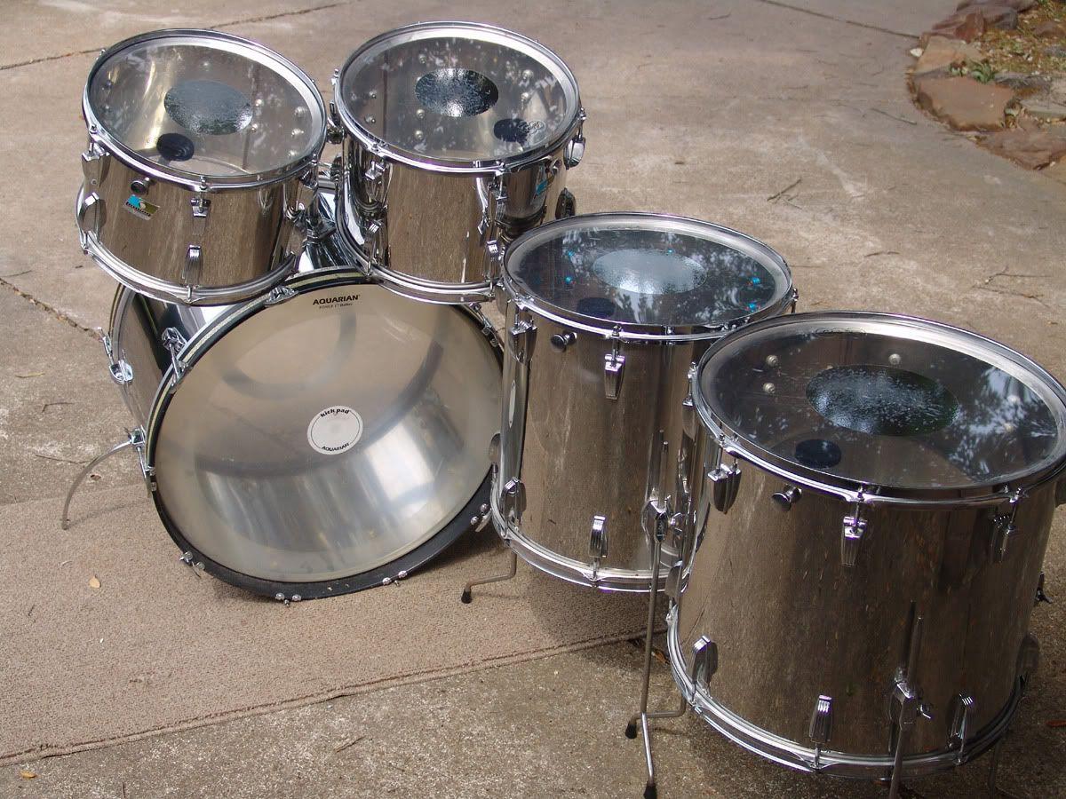 ludwig stainless steel kit for sale dfo drum forum vintage drums metal kits. Black Bedroom Furniture Sets. Home Design Ideas