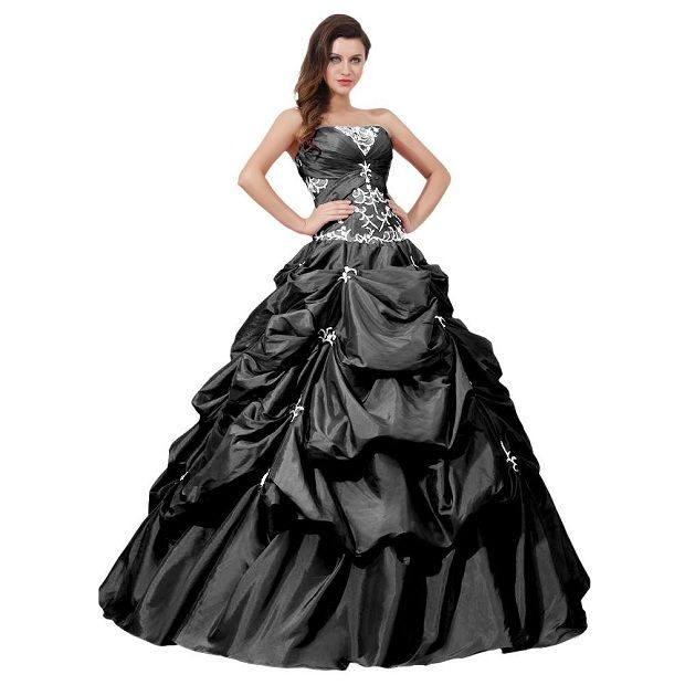Plus Size Wedding Dresses | Black and white plus size ball gowns ...
