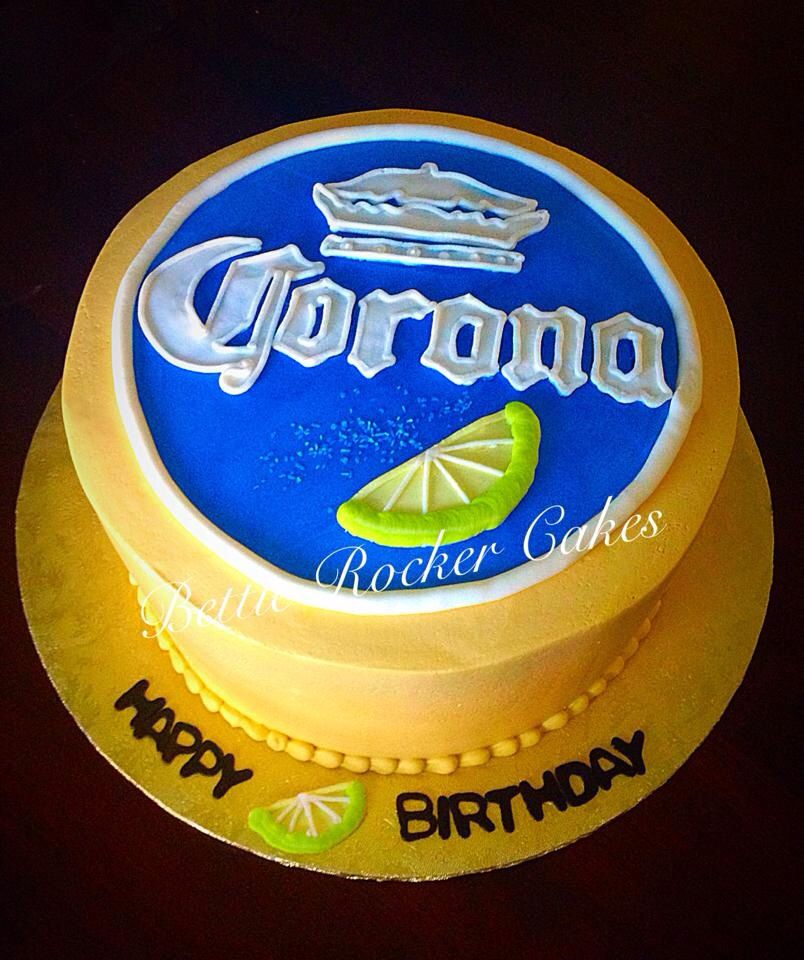 Corona Beer Cake | Cakes for men, Themed cakes, 40th bday