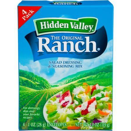 Hidden Valley Original Ranch Salad Dressing Seasoning Mix Gluten Free Keto Friendly 4 Packets Walmart Com Ranch Salad Dressing Seasoning Mixes Homemade Ranch Seasoning