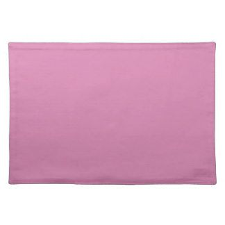 Lavender Rose A Solid Rosy Pink Color Cloth Place Mat