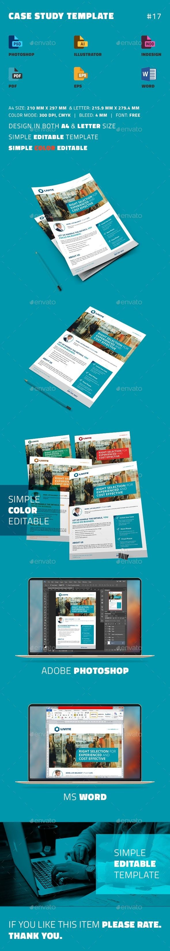 Case Study Template  Print Templates Template And Newsletter