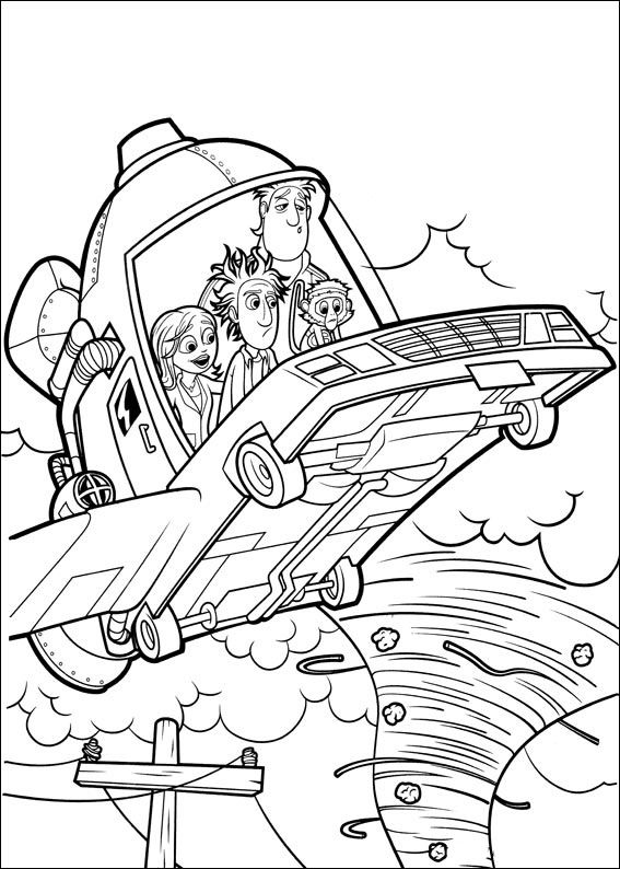 Cloudy With A Chance Of Meatballs Coloring Pages For Kids