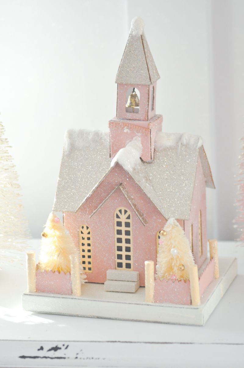 Blush Pink Vintage-Inspired Tree | Pinterest | Christmas tree, Pink ...