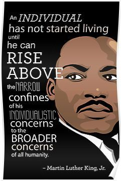 'Inspirational Quote: Martin Luther King Jr.' Poster by Jessica Peoples