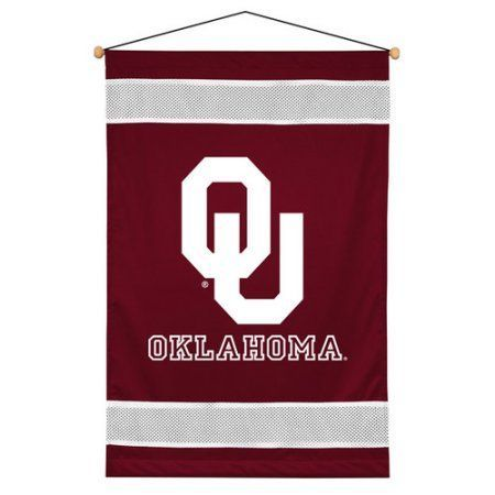 Ncaa University of Oklahoma Sidelines Wall Hanging, Size: Oversized 41 inch+, Red
