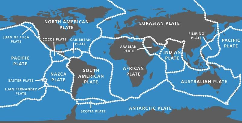 Image result for tectonic plates