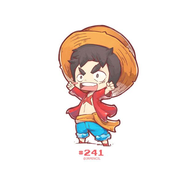 Artstation 241 Luffy Jr Pencil Character Design