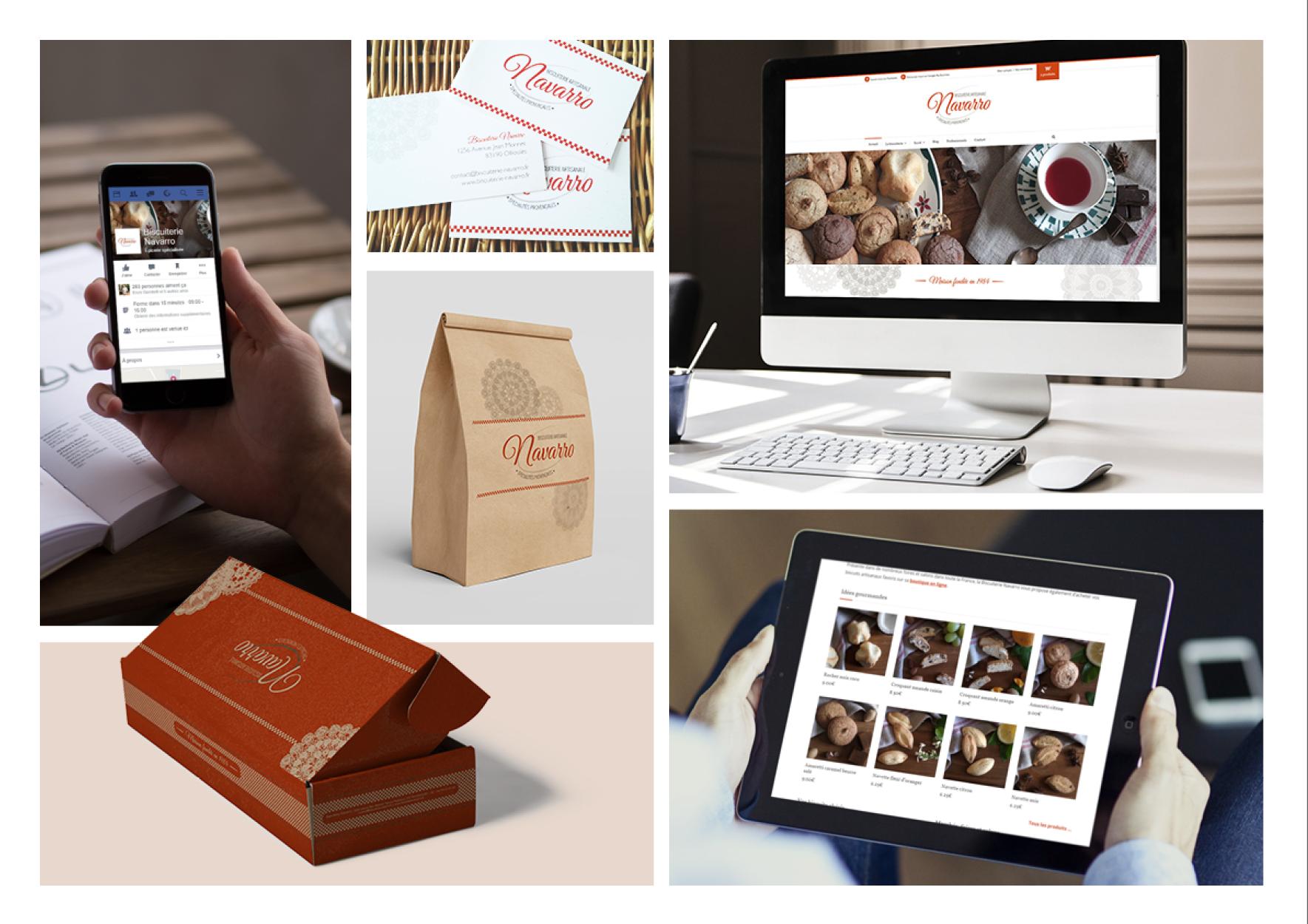 Site ecommerce Biscuiterie Navarro www.biscuiterie-navarro.fr. Missions : #webmarketing #brandcontent #SEO #wordpress #packaging et #identitegraphique. Création par Fourmi Volante