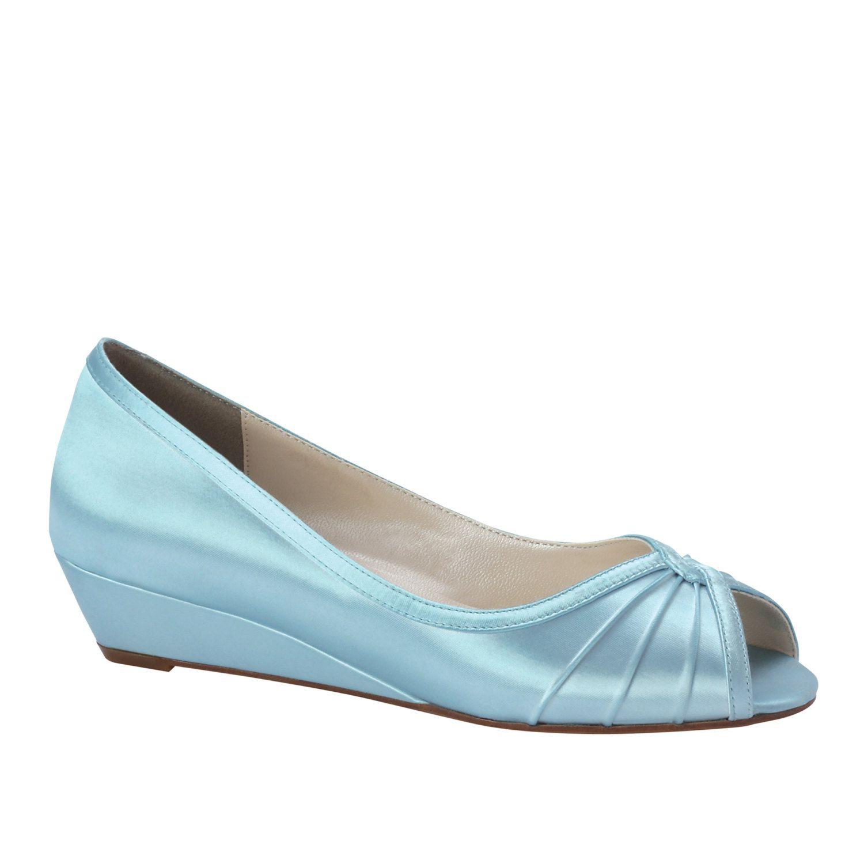 Wedding Shoes Wedge Low heel -- 1 inch wedge shoes. $100.00, via ...