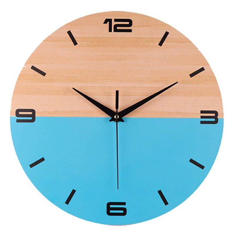 New 12 Inch Creative 3d Digital Wall Clock Stereo Double Color Blue Wooden Wall Clock Stylish Home Decoration Digital Wall Wall Clock Clock