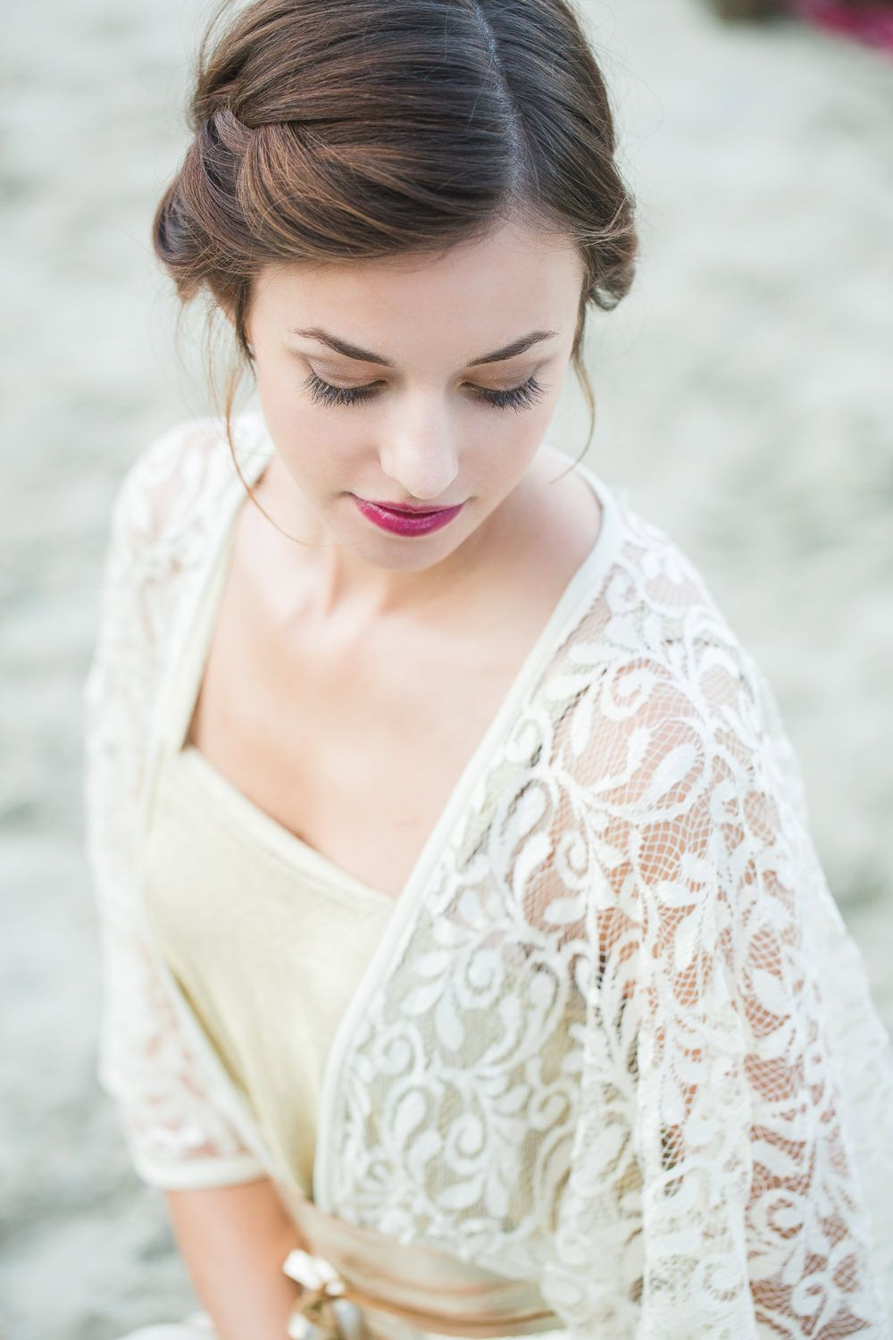 A Lakeside boho hippie inspired styled shoot with bright coloured ...