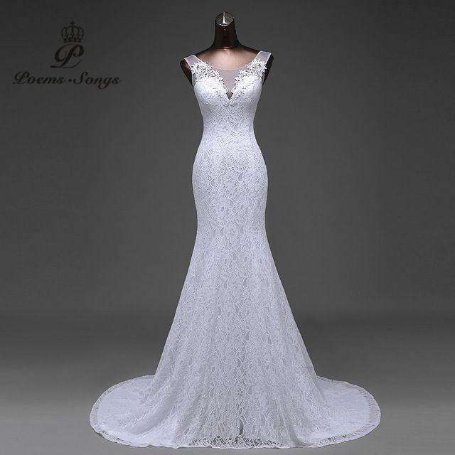Vendita calda di trasporto libero Elegante bellissimi fiori di pizzo sirena Abiti Da Sposa abiti da noiva robe de mariage abito da sposa