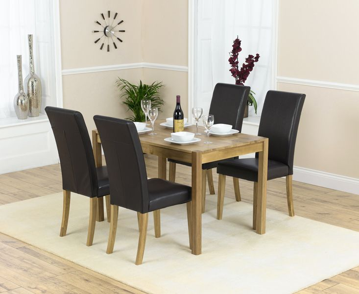 Oxford 90cm Solid Oak Extending Dining Table With 4 Albany Red Chairs Fantastic Furniture Pinterest Red