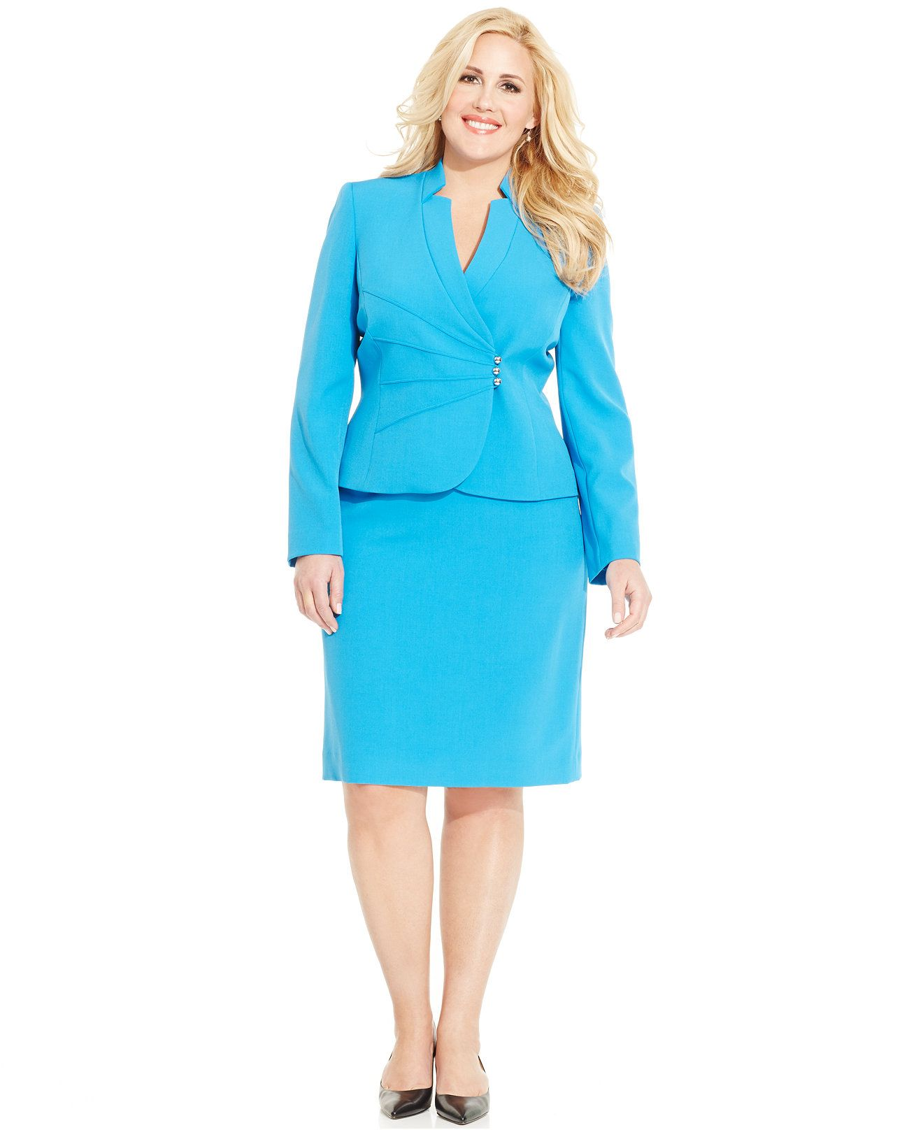 Tahari ASL Skirt Suit - Wear to Work - Macy\'s | Academia Fashion ...