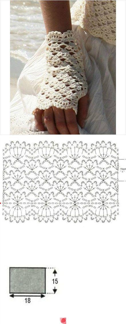 Lovely fingerless gloves | CROCHE - LUVAS E POLAINAS E BOOTS ...