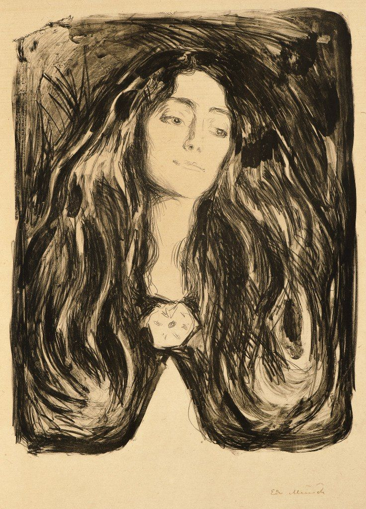 Edvard Munch The Brooch Eva Mudocci Symbolism Edvard Munch