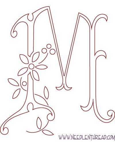 hand embroidery letters patterns - Google Search | bordar | Pinterest