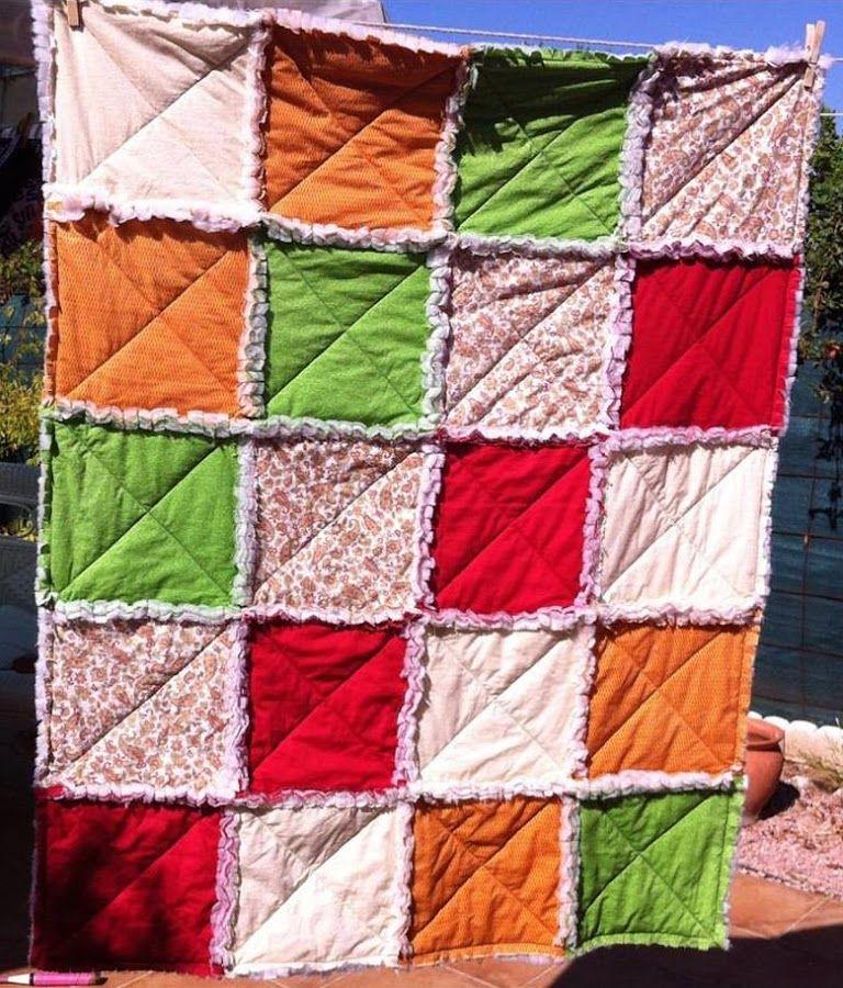 Rag Quilt, la manta con un toque bohemio | Colcha de trapo