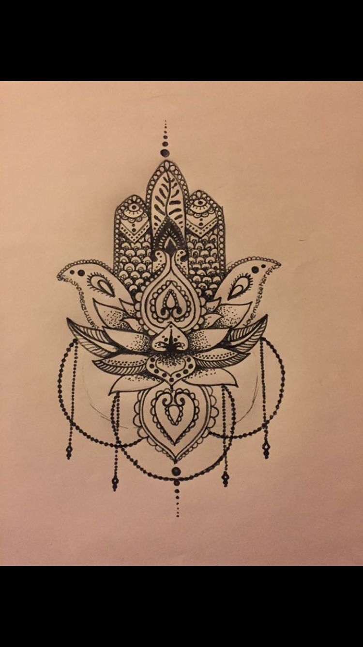 Mandala tattoo on pinterest lotus mandala tattoo lotus mandala - Lotus Tattoo Und Noch Mehr Lotus Hamsa Lotus T Tattoo