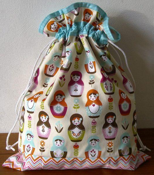 Free Drawstring Bag Pattern | Pinterest | Säckchen und Nähen
