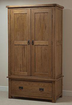 Superieur Rustic Solid Oak Wardrobe Was: £ 1,070.49 Now: £499.24