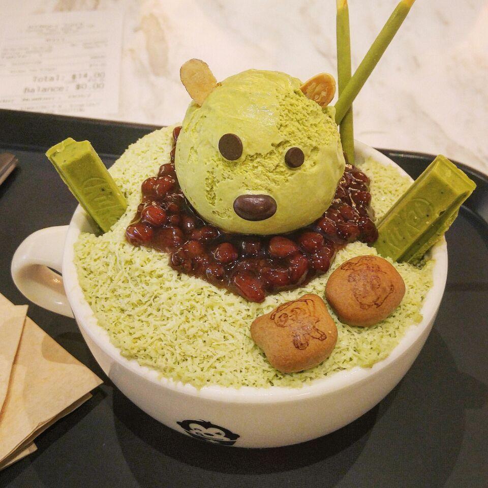 Matcha Bingsu ($14) @Bingki Korean Dessert Cafe (Tanjong ...
